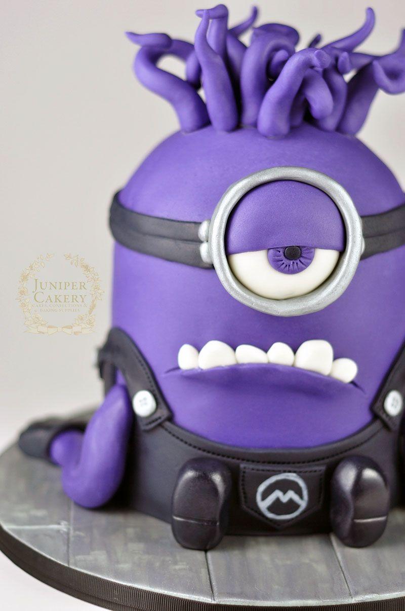 Fun purple minion birthday cake by Juniper Cakery Birthday cakes