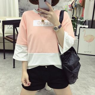 Buy 'NINETTE – 3/4-Sleeve Color-Block Top' with Free International Shipping at YesStyle.com. Browse and shop for thousands of Asian fashion items from China and more!