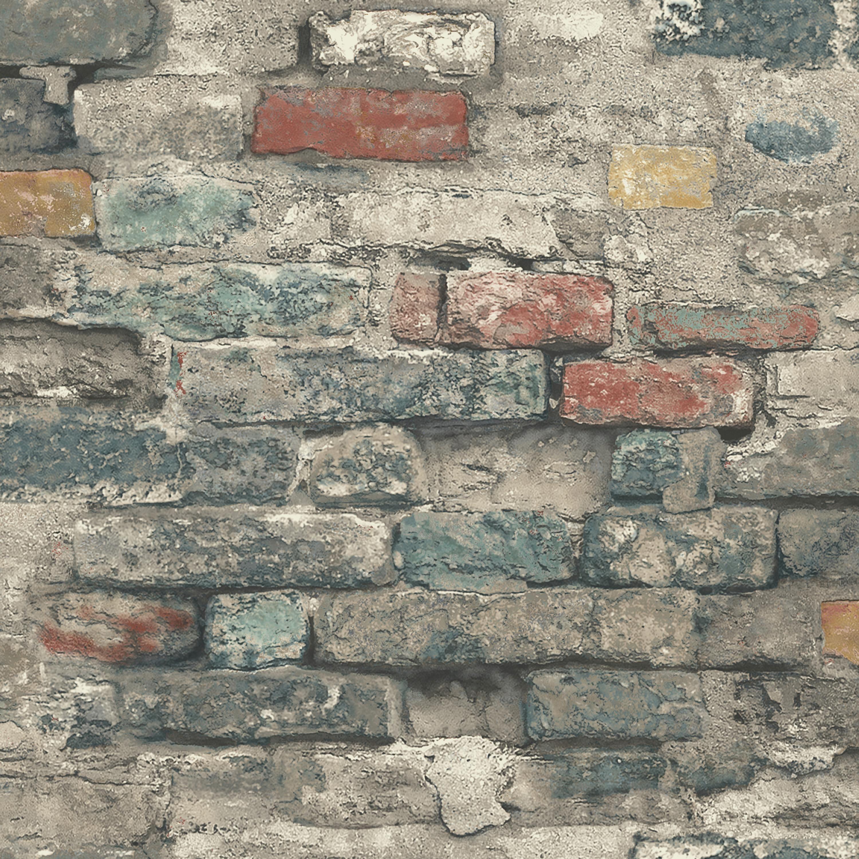 Roommates Brick Alley Peel Stick Wallpaper Walmart Com Brick Wallpaper Peel And Stick Wallpaper Stone Wallpaper