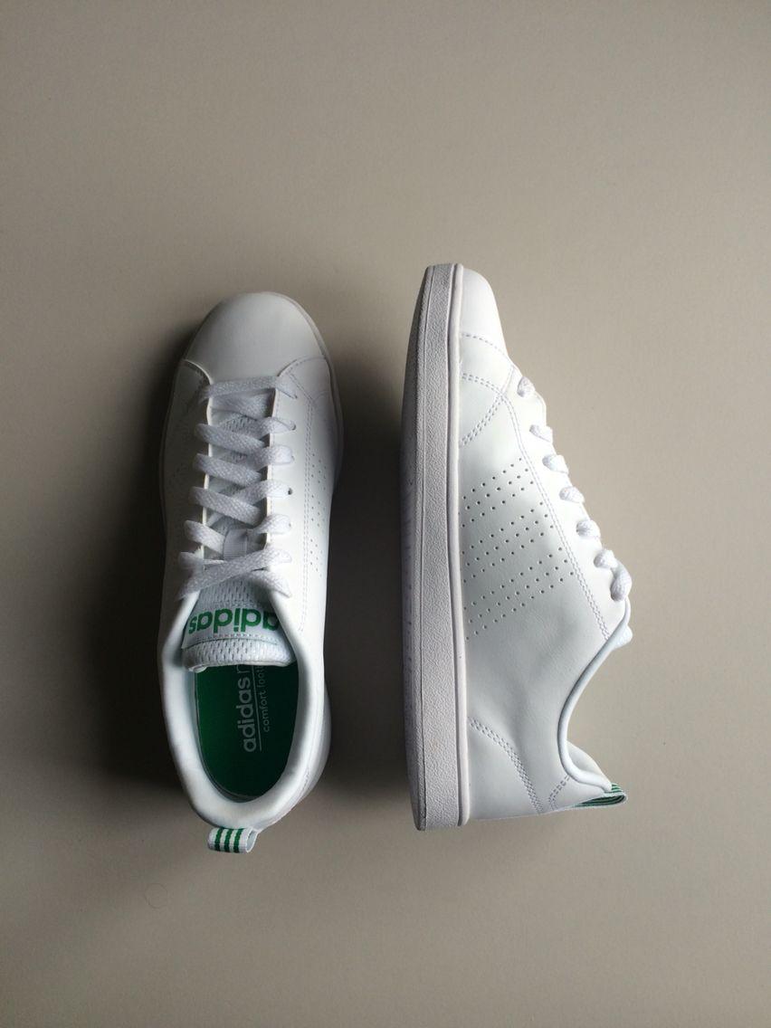 premium selection 298f9 780e9 adidas neo leather green white