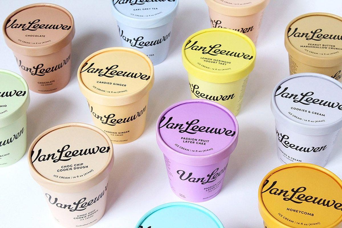 Van Leeuwen Artisan Ice Cream Identity And Packaging On Behance Vegan Ice Cream Brands Ice Cream Brands Artisan Ice Cream