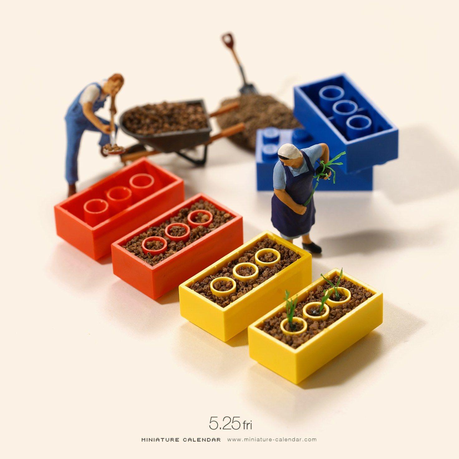 Building A Tiny World Miniature Calendar By Tatsuya Tanaka
