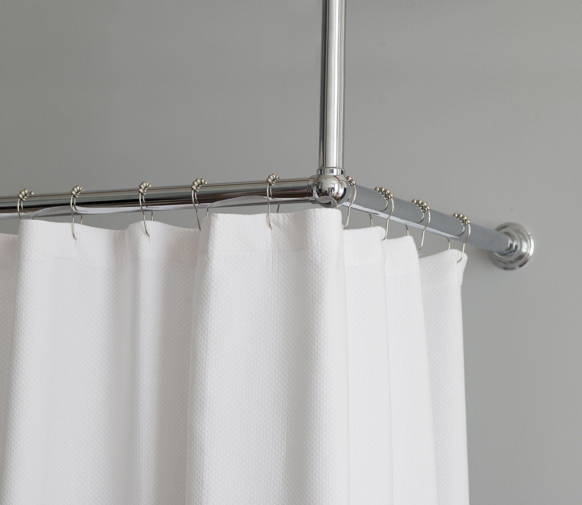 Shower Curtain Rail L Shape Rail Large Shower Curtains Curtain