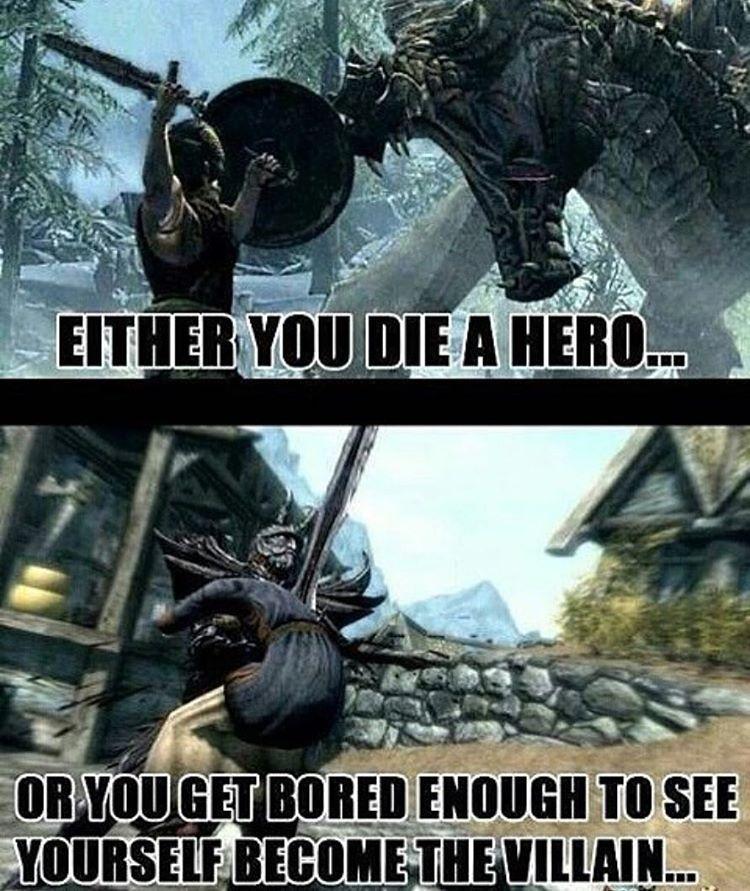 Villain or Hero 🤔 Who has more fun? 👀 -   skyrim   Skyrim