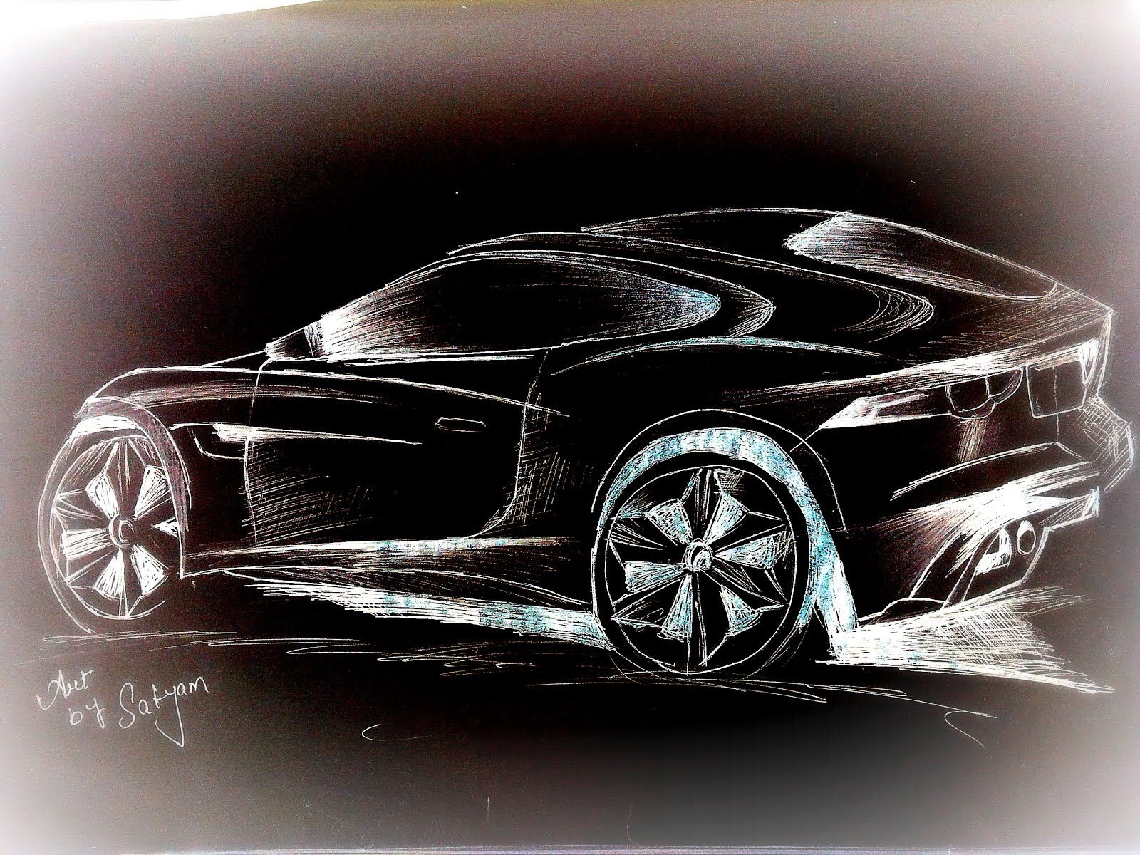 How To Draw Sports Car Proart By Satyam Pinterest Drawings