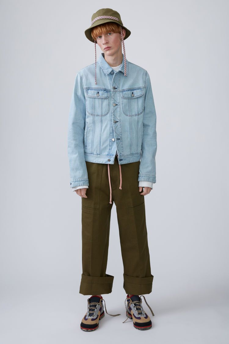 Tent Jacket Acne Studios Blayen Konst Tent Mid Blue Is An Oversized Classic