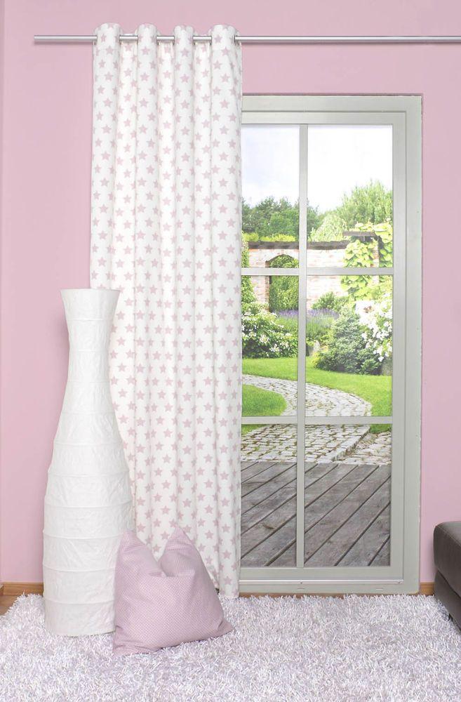 Osenschal Gardine 51033 534 Grosse Sterne Weiss Rosa Mauve Blickdicht 245 X 135 Cm 45 Osenschals Home Fashion Gardinen