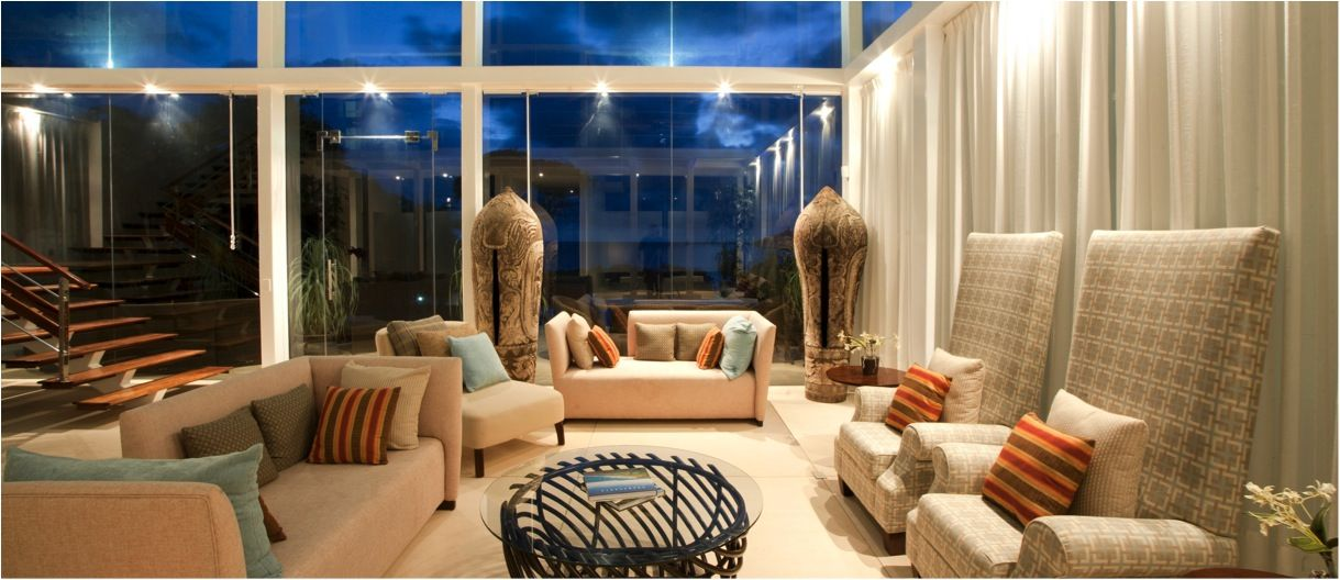 Equity Estates Hawaii Home in Playa Langosta, Costa Rica. The living room