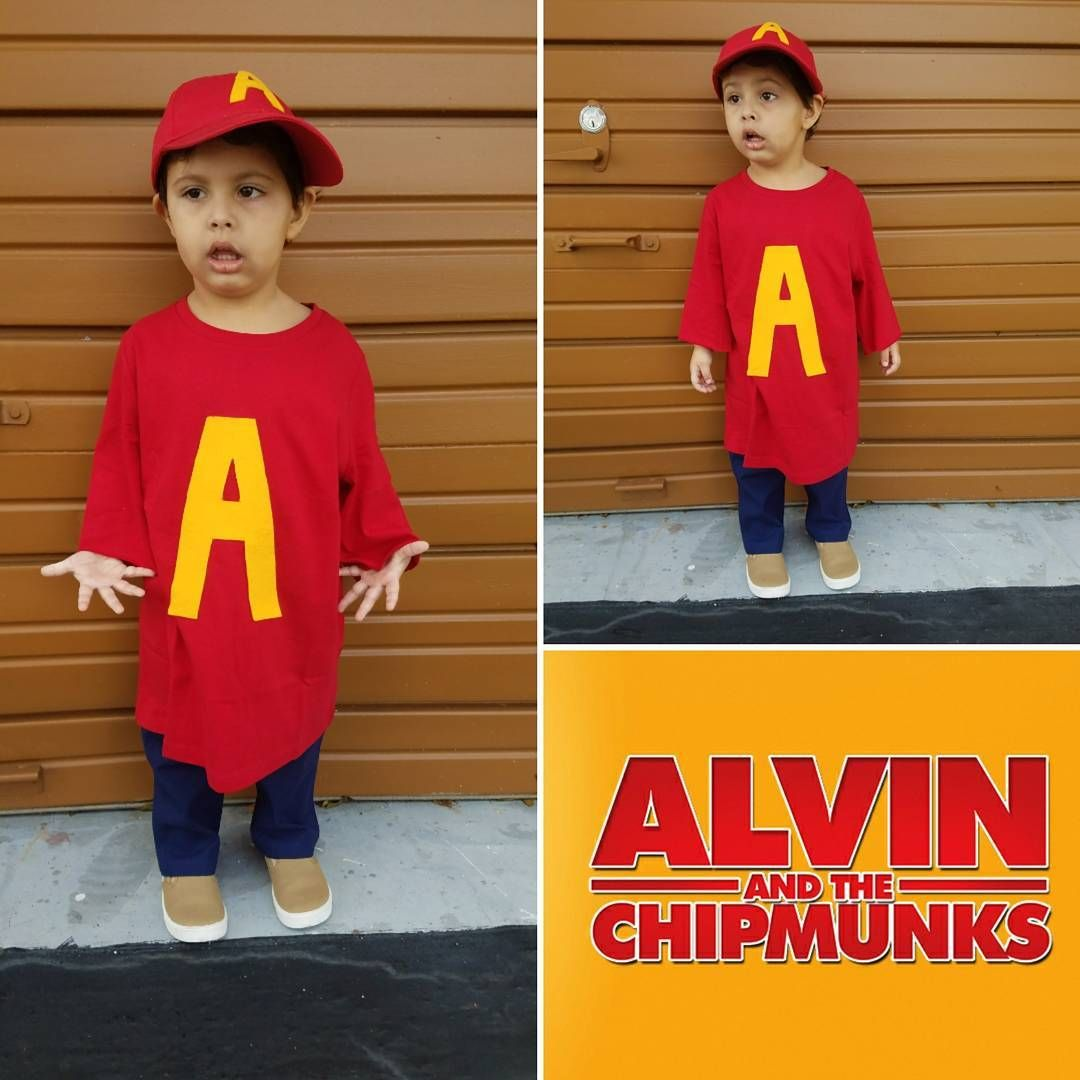 Diy Alvin And The Chipmunks Halloween Costume Idea Maskerix Com Alvin And The Chipmunks Chipmunks Group Halloween Costumes