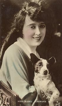 0 Mabel Normand with dog in her arms