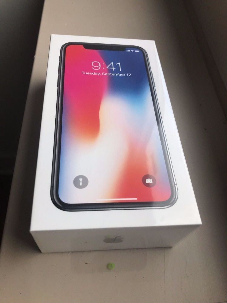 Apple iPhone X 64GB Space Gray (GSM Unlocked) Sealed