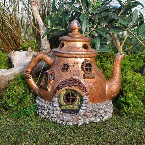 Miniature Fairy Garden Tea Pot House #teapotset