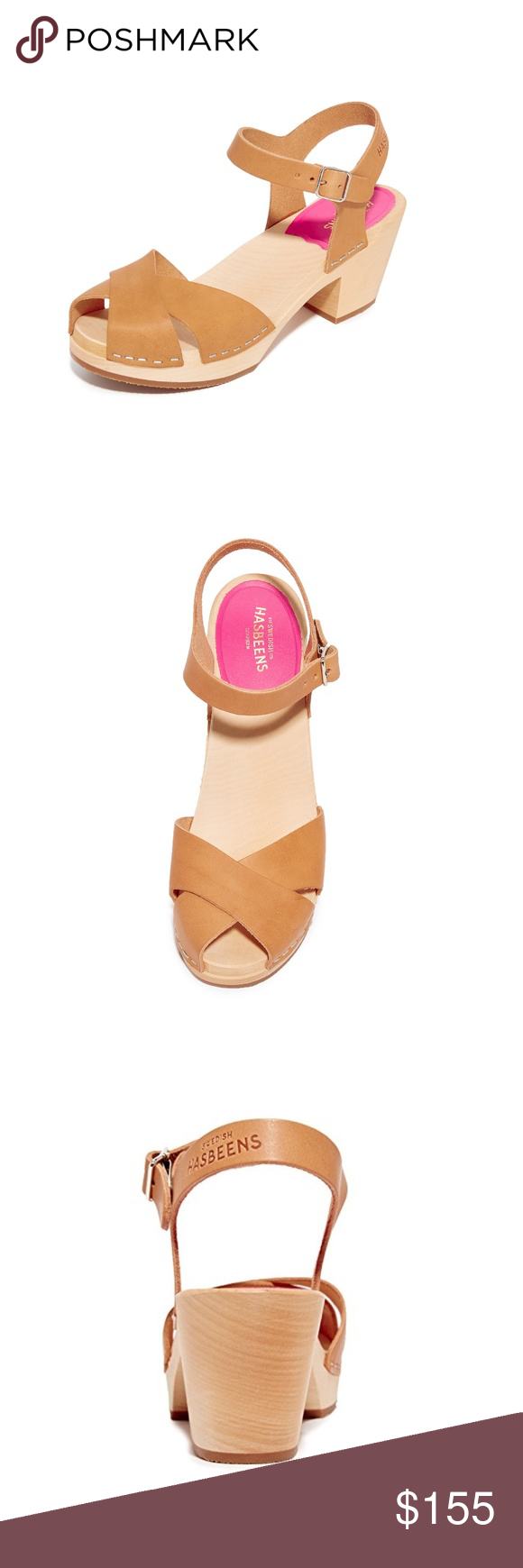 f9c65e853a7f52 Swedish Hasbeens Mirja Clog Sandal  70s-inspired clogs featuring a natural  grain leather that