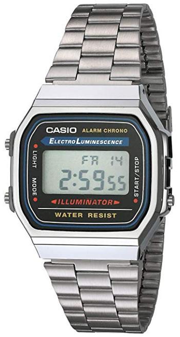Vintage Casio Electro Luminescence Illuminateur silver watch