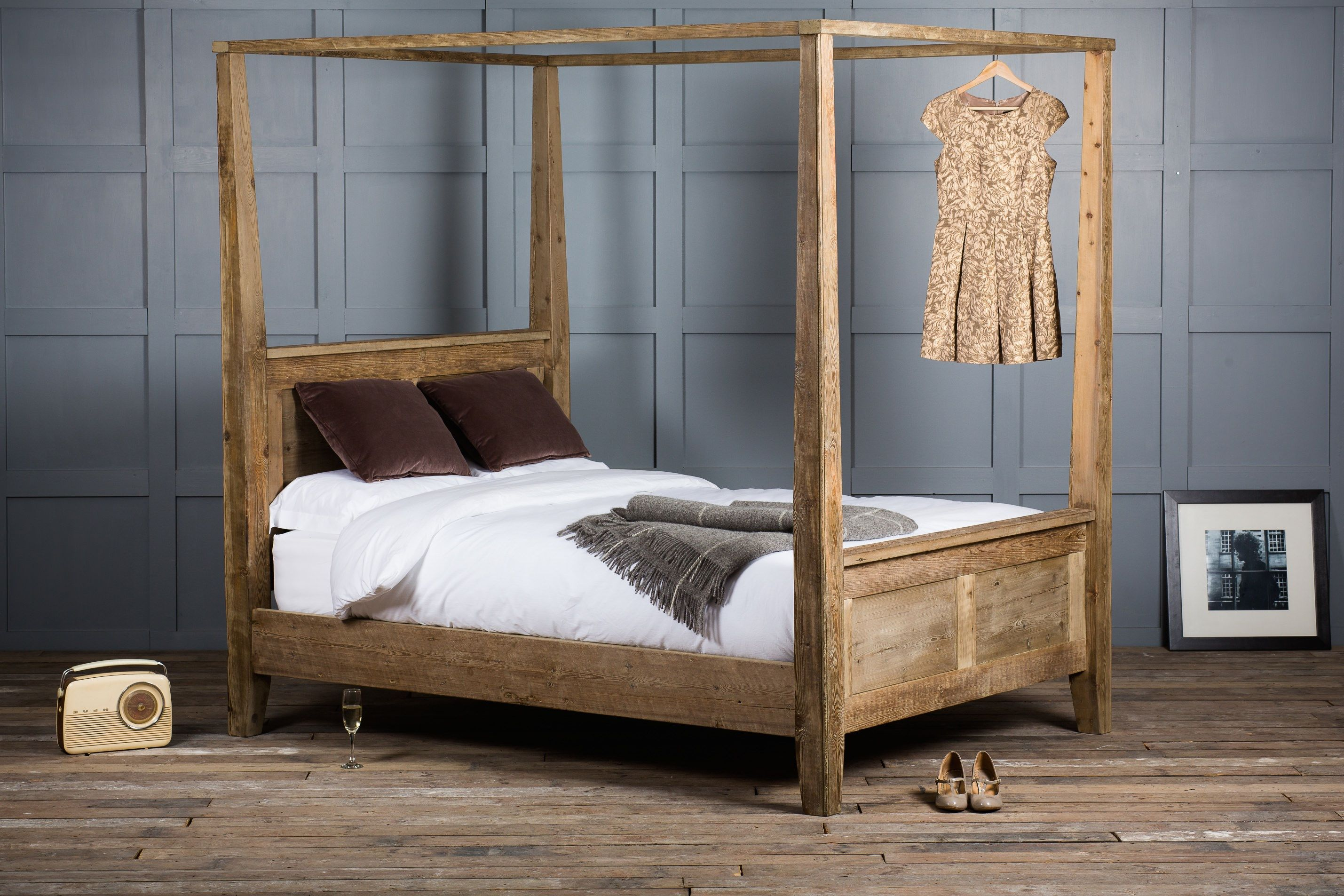 Reclaimed Wood Canopy Bed Casa Pinterest Canopy Beds