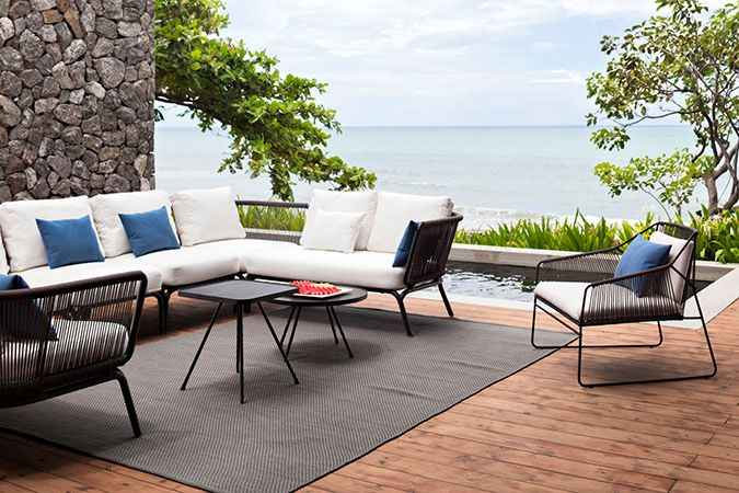 Oasiq Yland 2 Seater Arm Right Outdoor Furniture Sets Luxury