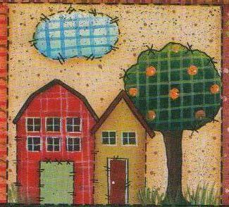 Imagenes y dibujos para imprimir dibujos casas country - Casas de patchwork ...