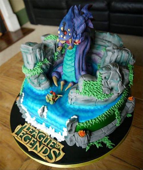Wondrous League Of Legends Cake Liga Dos Lendarios Bolo Bolos De Funny Birthday Cards Online Inifodamsfinfo