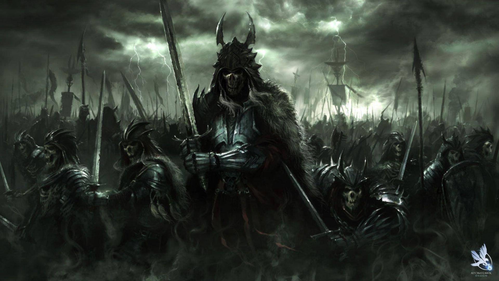 dark art | fantasy art dark horror demon skull warrior ...