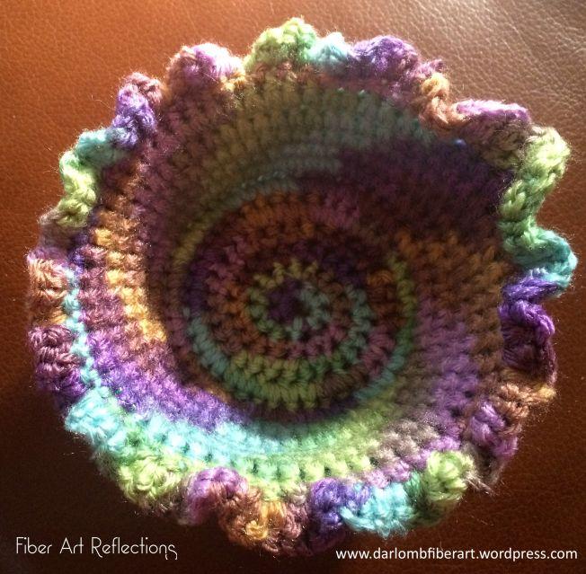 Small Crochet Coiled Basket Photo Tutorial Fibre Art Crochet And