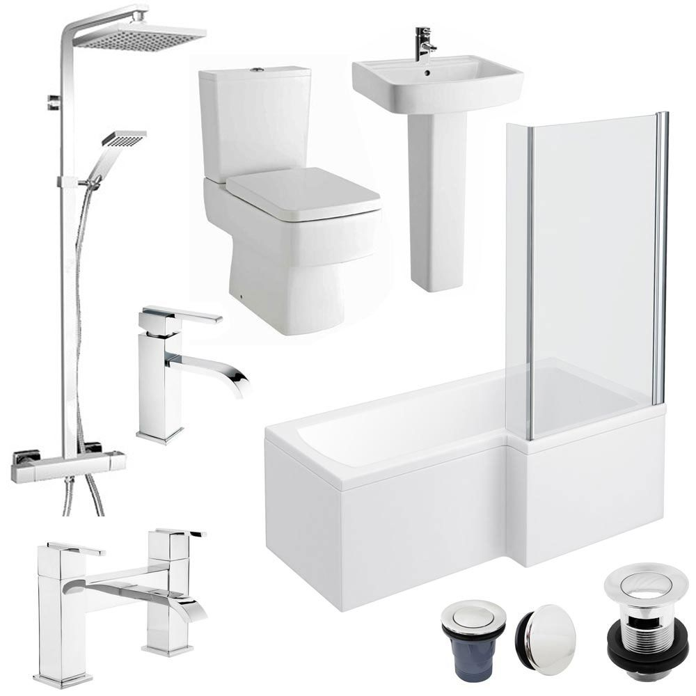 Bliss L Shaped 1700 Complete Bathroom Package Available Online