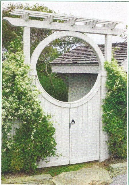 Circle gate (With images) | Moon gate, Railings outdoor ...