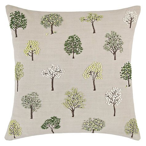 John Lewis Amp Partners Mini Trees Cushion Green