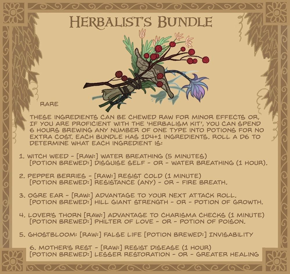 21  Herbalist's bundle - A small cluster of magically potent