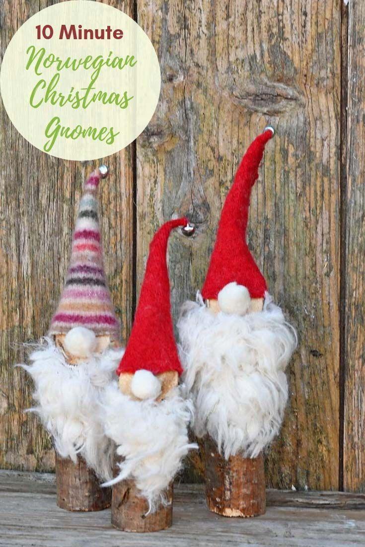Christmas Gnomes Pinterest.Super Easy To Make Cute Norwegian Christmas Gnomes