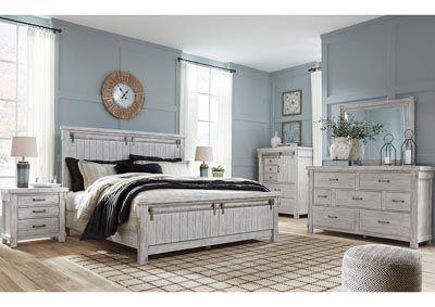 Best Brashland White Queen Panel Bed W Dresser And Mirror 640 x 480