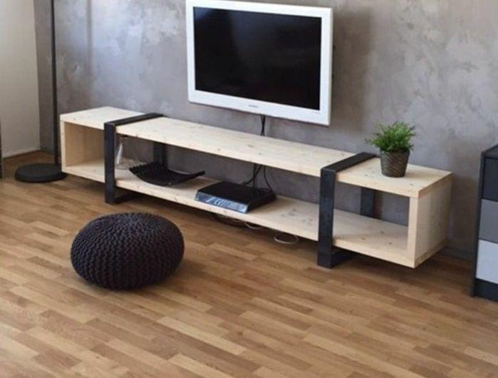 Fabriquer Un Meuble Tv Instructions Et Modeles Diy Fabriquer Meuble Tv Meuble Fabrication Meuble
