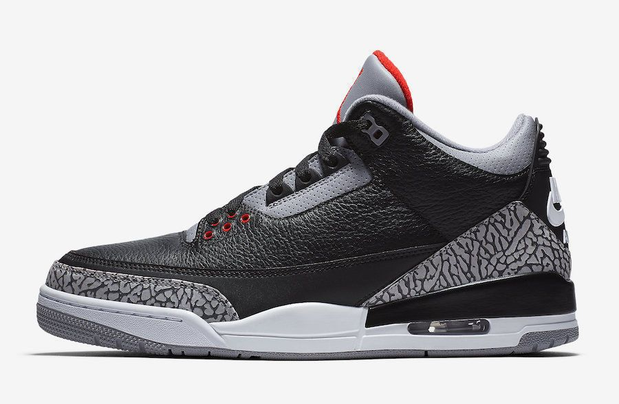 quality design a703f 8ae15 Details about NIKE AIR JORDAN RETRO 3 III BLACK CEMENT 8-15 ...