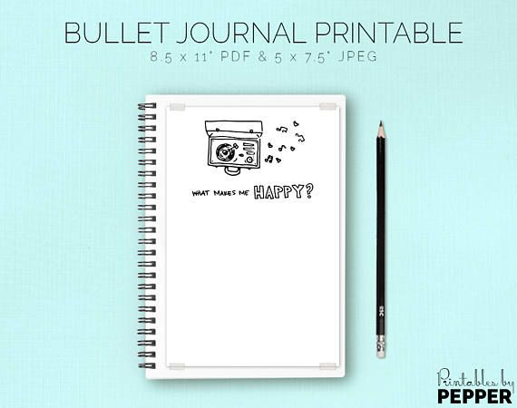 Writing Prompt BuJo Art Diary Bullet Journal Printable Reflection Planner PDF 5 by 7.5 Coloring Page JPEG Gave It Everything