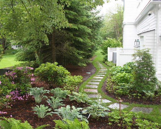 Walkways Design Ideas Pictures Remodel And Decor Landscape Design Traditional Landscape Small Front Yard Landscaping