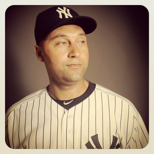 Derek Jeter poses for a portrait during the New York Yankees Photo Day