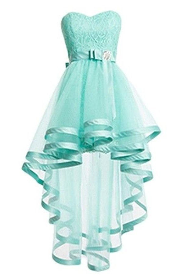Short Front Long Back Pretty Tulle Mint Homecoming Dresses K288 ... 3650fe95bf4