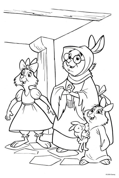Robin Hood Coloring Page With Images Disney Coloring Pages