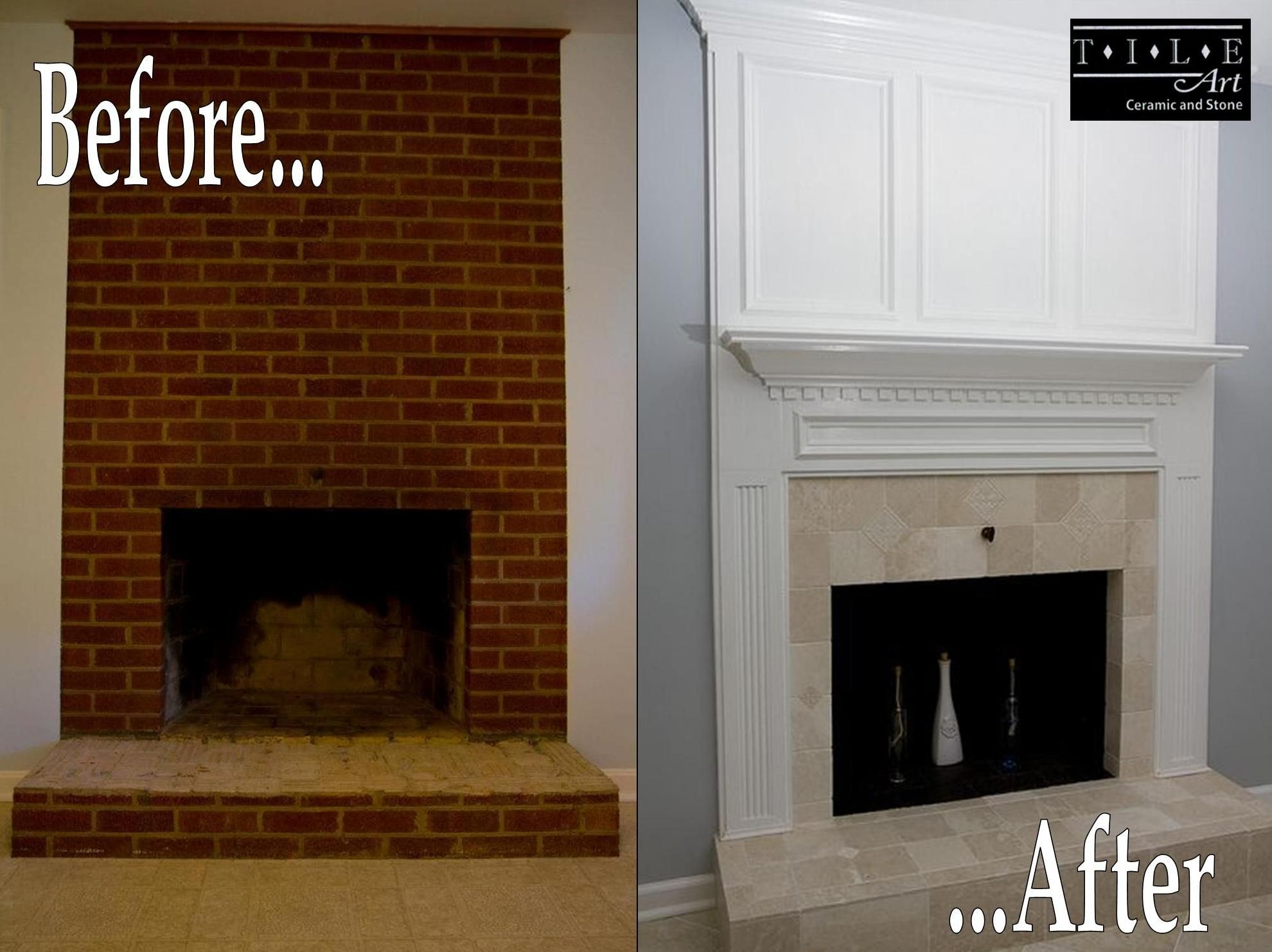 Wow amazing tile fireplace remodel designed and installed by tile amazing tile fireplace remodel designed and installed by tile art ceramic stone dailygadgetfo Choice Image