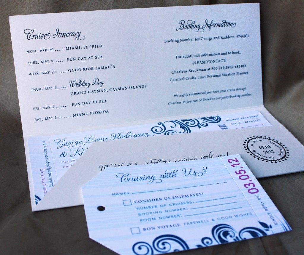 Cute Invites With Itinerary