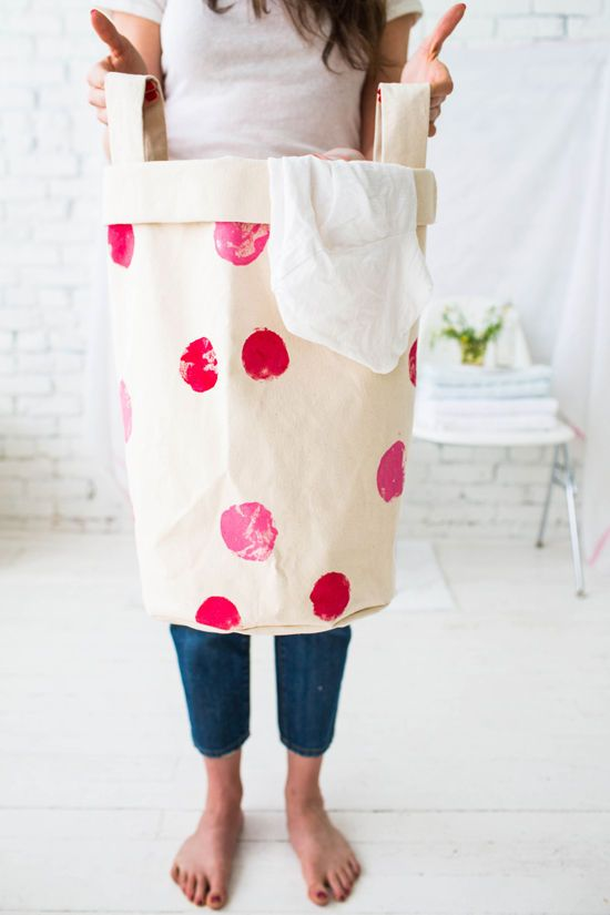 Sew Heavy Duty Canvas Laundry Bags Free DIY Laundry Bag and