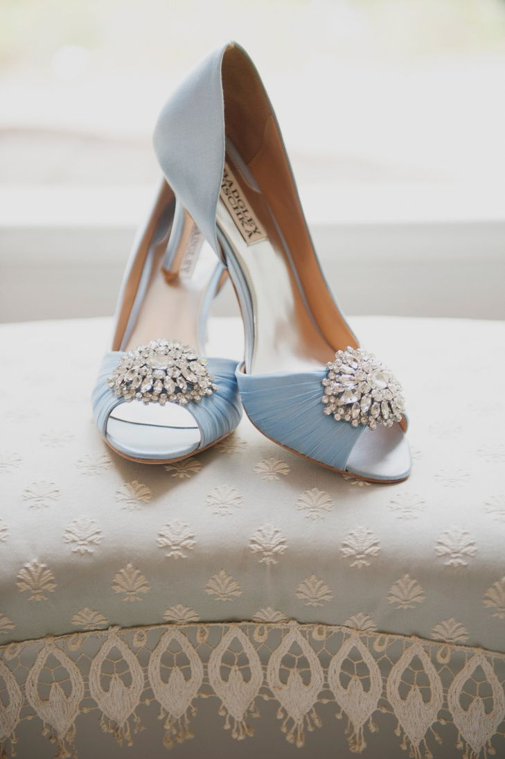 Light Blue Badgley Mischka Bridal Shoes Photo Eliza J