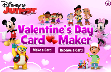 Free Valentine S Day Card Maker E Cards Disney Jr Disney Junior Disney Card Maker