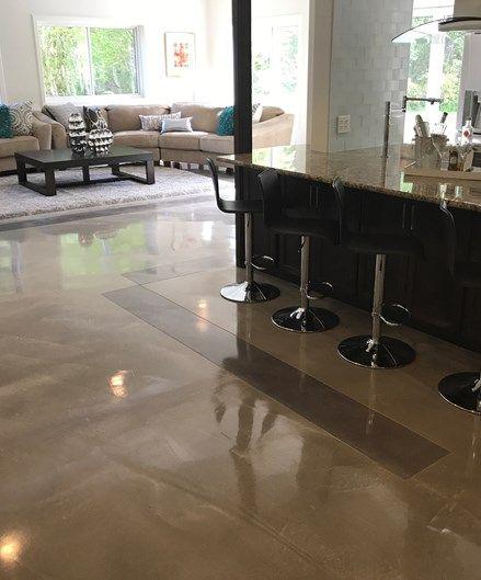 Floor Overlay Reflective Concrete Floors Modern Bellevue Wa