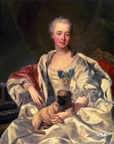 Louis Michel Van Loo Princess Golitsyna 1759 Mops Kunst Kunstdruck Mops