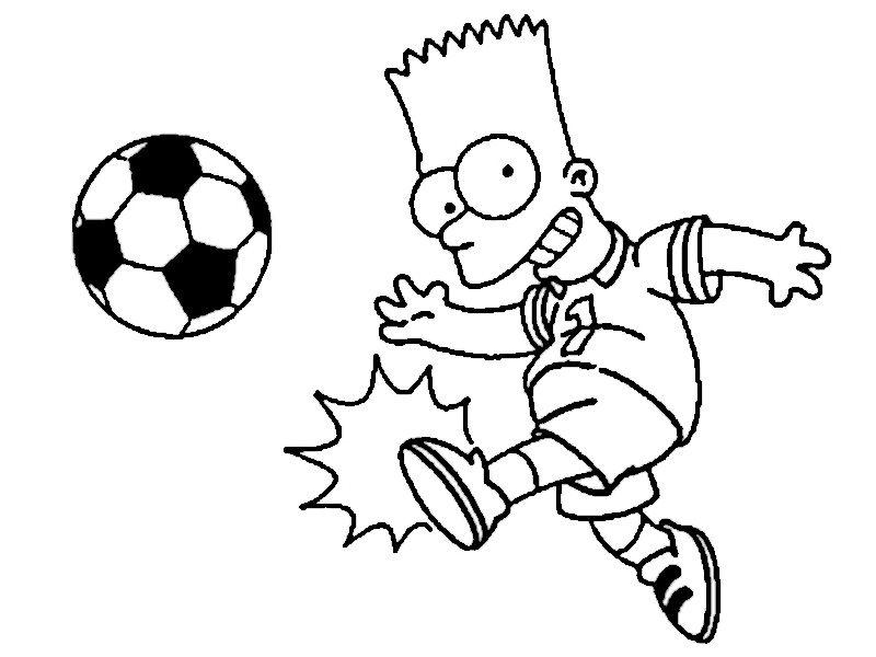 Coloriage Dessins Les Simpsons 22 Dibujos De Los Simpson Bart Simpson Dibujo Dibujos De Futbol