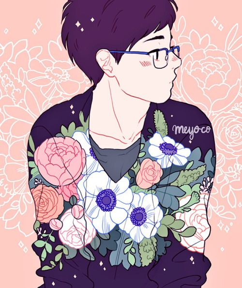 Tumblr Flower Boys Yuri On Ice Yuri