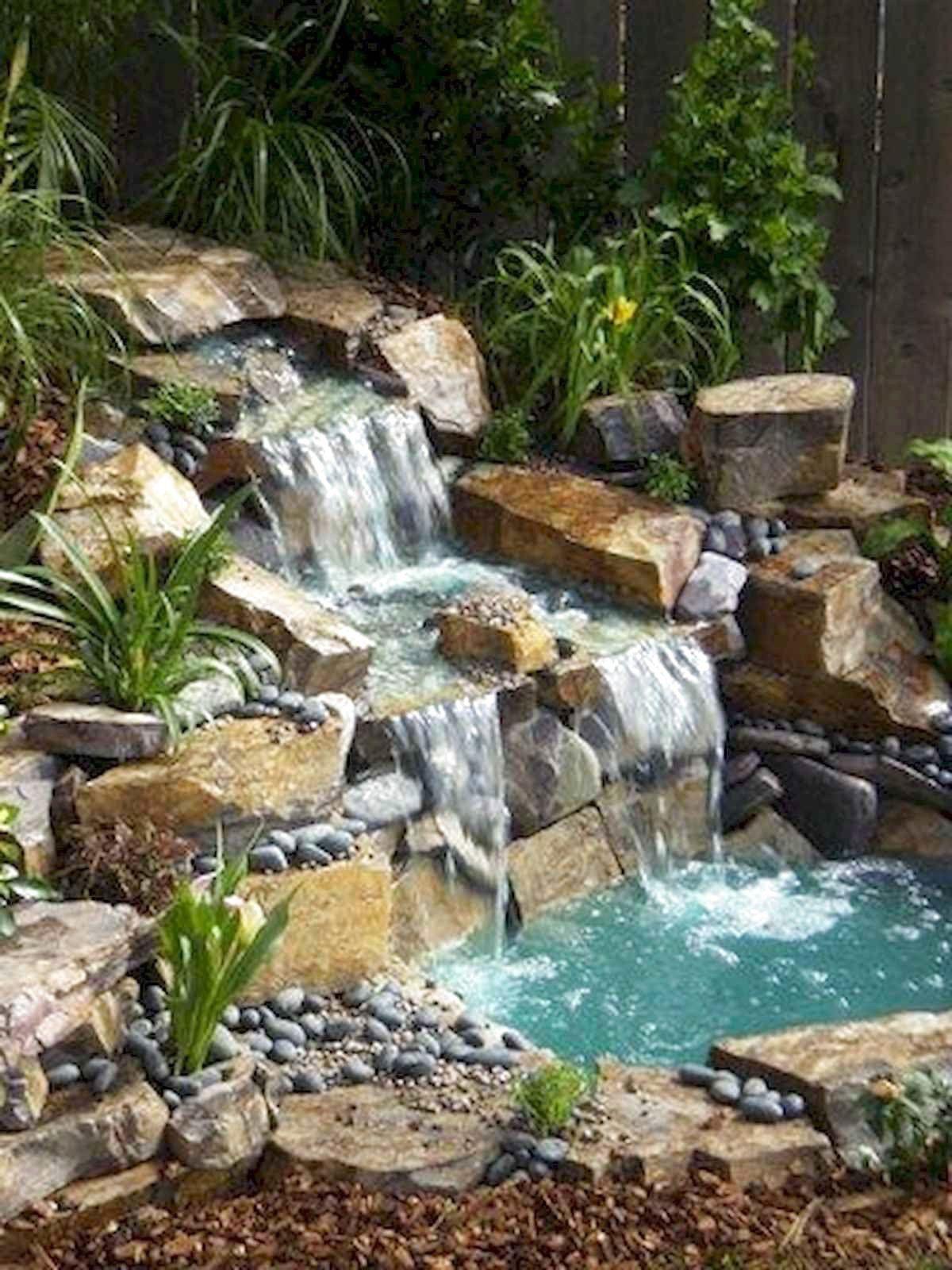 Backyard Pond Ideas With Waterfall
