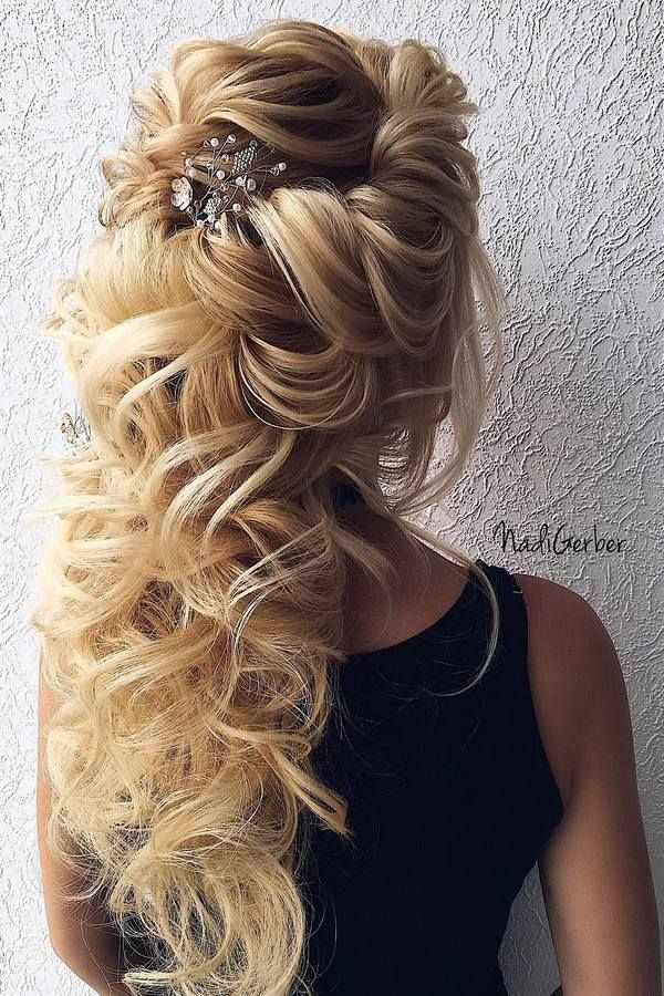 40 Stuning Long Curly Wedding Hairstyles from Nadi Gerber | Deer Pearl Flowers/ http://www.deerpearlflowers.com/long-wedding-hairstyles-from-nadi-gerber/
