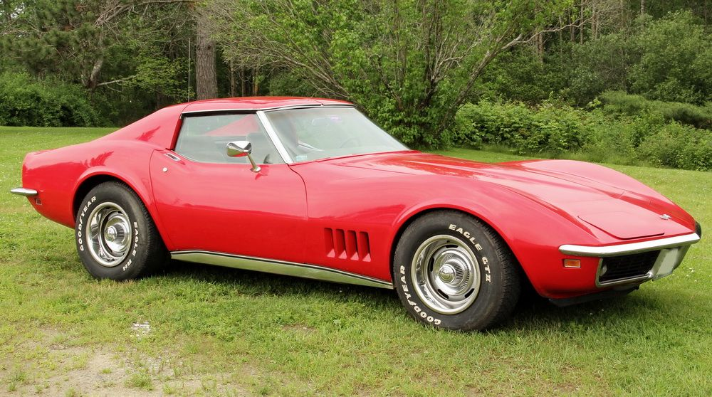 304 Lot 636 1969 Chevrolet Corvette Stingray T Top With 160 804 Miles Vin 194379s732741 350 V8 Engine In Candy Le Red Chevystingray Ttops