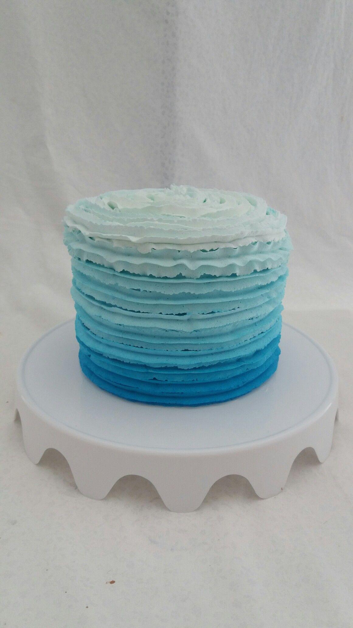 Bolos Chantilly Degrade Azul Bolo De Chantilly Bolo Degrade